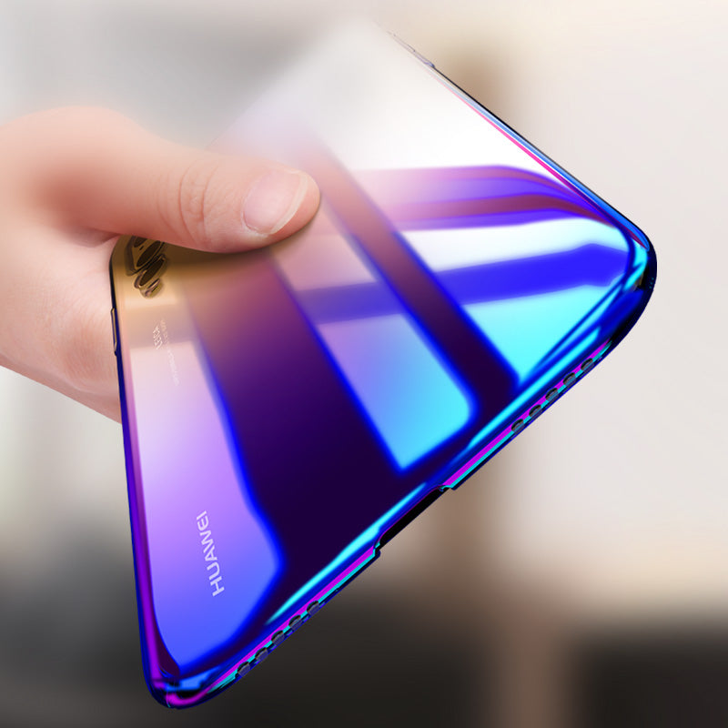 Luxury Aurora Gradient Color Transparent Cover For Huawei P20/P20 Pro/P20 Lite