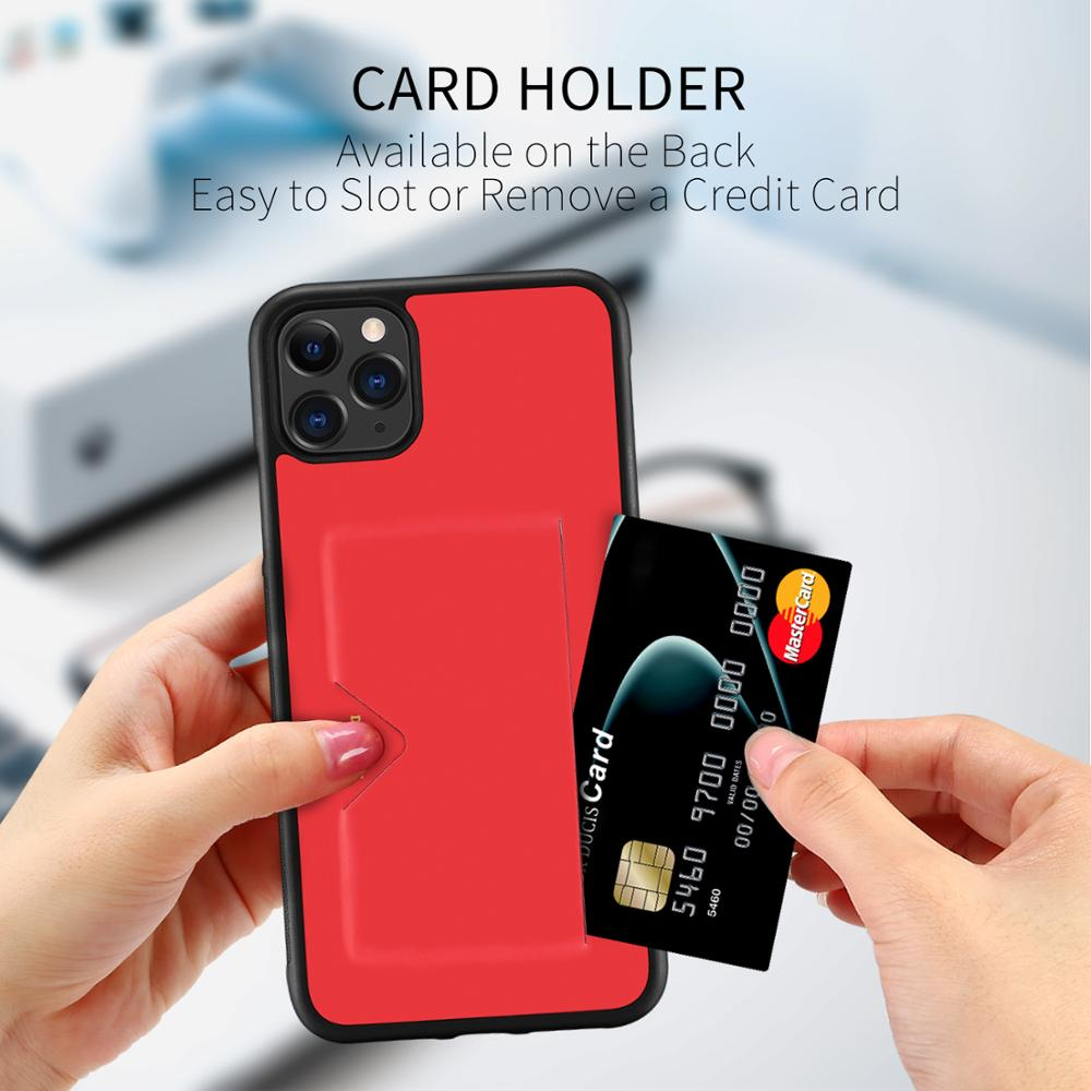 Wallet Credit Card Holder Shockproof For iPhone 11 Series