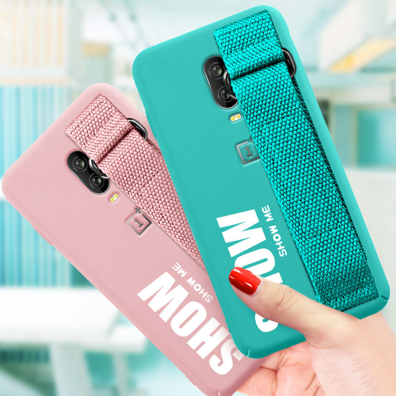 Soft Silicone Matte Cover Funda & Stand Holder for One Plus