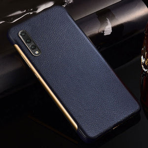 Luxury Flip Leather Case With Touch View For Huawei Smartphone