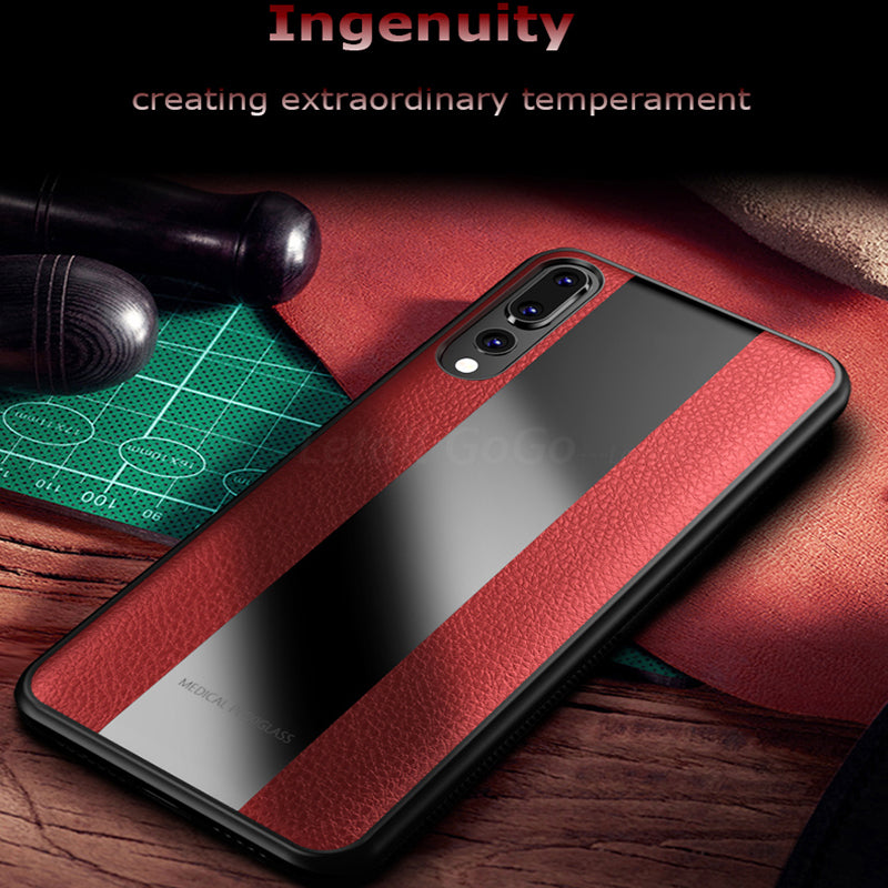 Fashion Leather Shockproof Phone Case For Huawei
