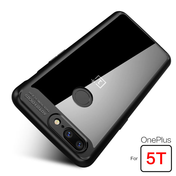 huge selection of 25c20 20401 Transparent TPU Silicone Shockproof Cover for OnePlus 5T
