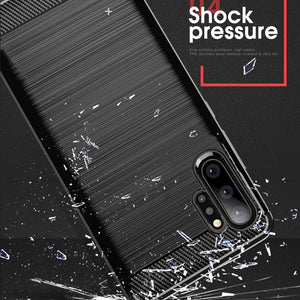 Carbon Fiber Texture Shockproof Case for Samsung Galaxy Note 10/Note 10+