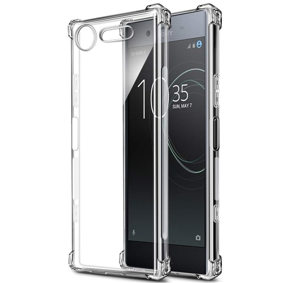 Premium Crystal Clear Shockproof Soft Silicone TPU Case For Sony Smartphone