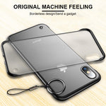 Frameless Transparent Matte Hard Phone Case For iPhone