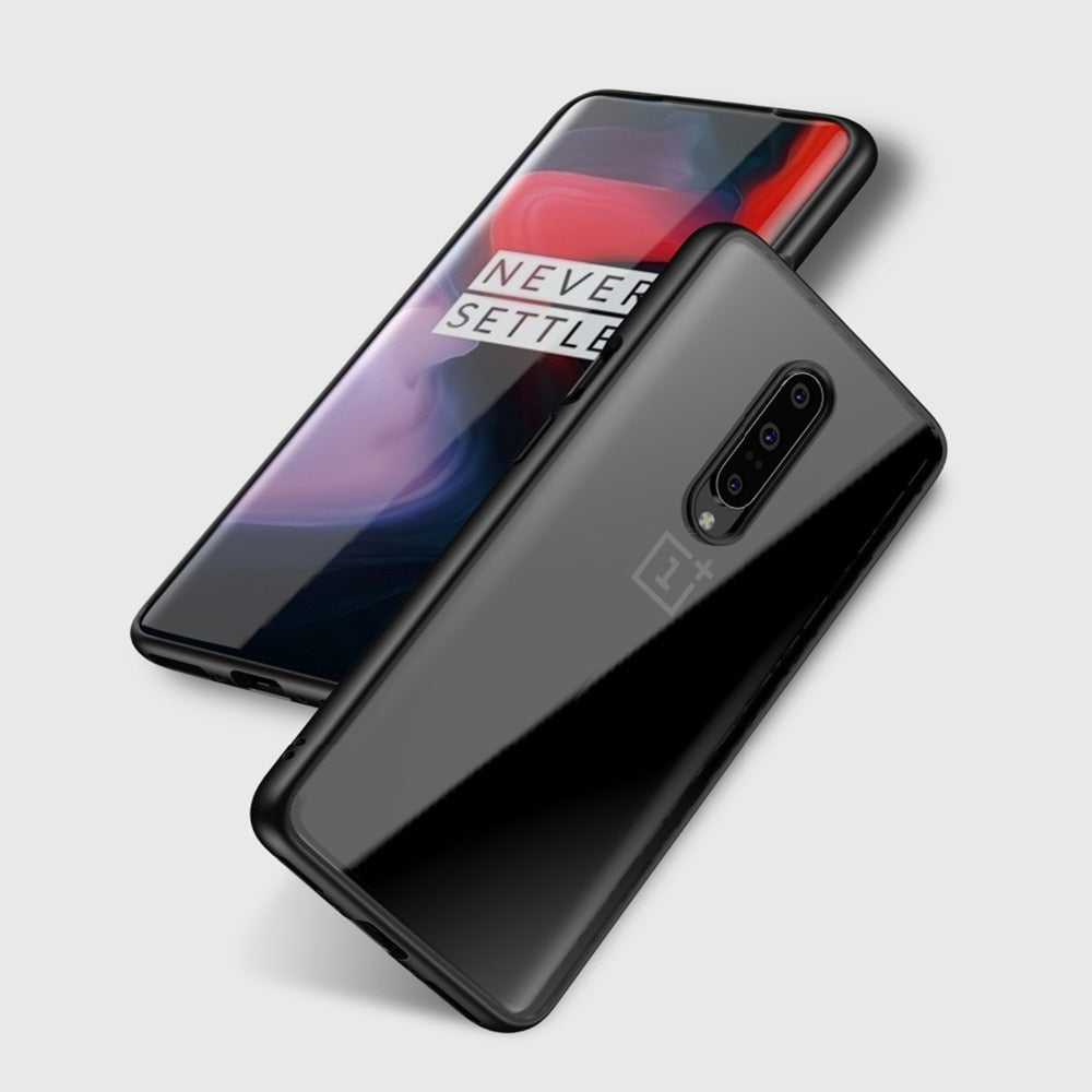 Transparent Acrylic Soft Silicone Case for OnePlus 7 / OnePlus 7 Pro