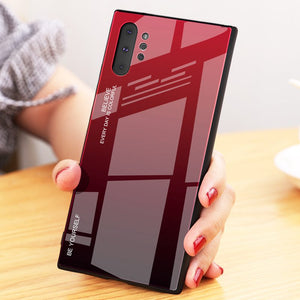 Gradient Tempered Glass Hard Back Cover For Samsung Note 10 Series