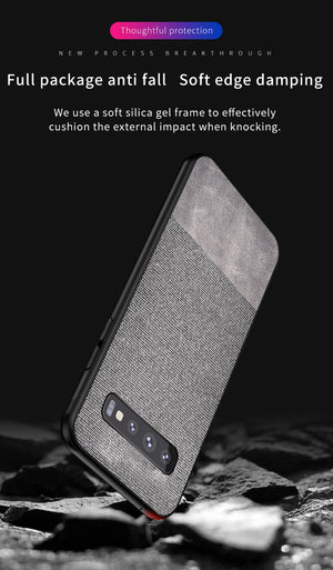Leather Cloth Texture Back Case For Samsung Galaxy Series