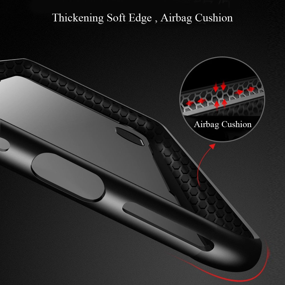 Luxury Transparent Tempered Glass Case for iPhone 11/11 Pro/11 Pro Max