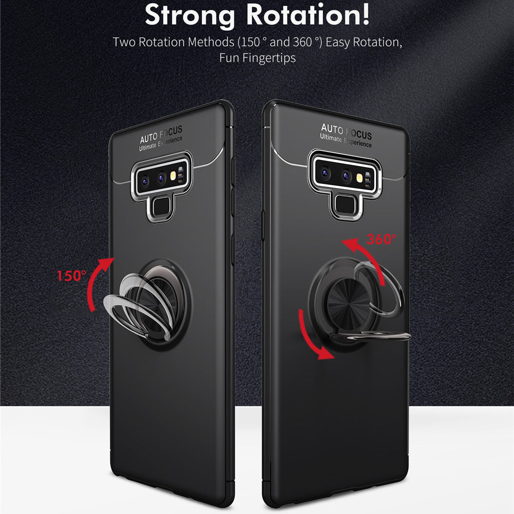 Luxury Soft Silicone Magnetic Ring Cover For Samsung Galaxy Note 9