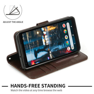 Luxury Wallet Style PU Leather Mobile Phone Bags Cases For Google Pixel 2XL