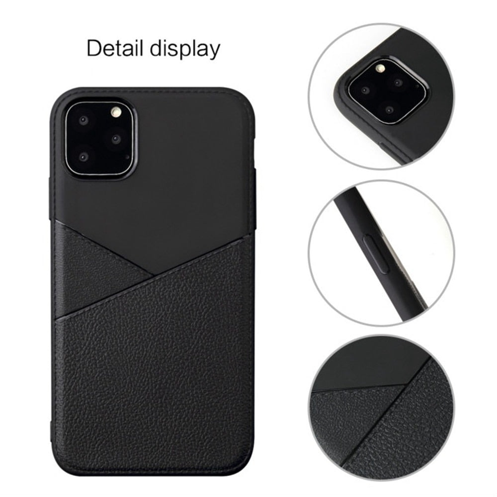 Luxury Leather Skin Phone Case For iPhone 11/11 Pro/11 Pro Max