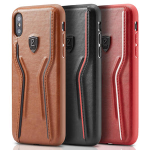 Luxury Leather Thin Slim Hard Cover For iPhone