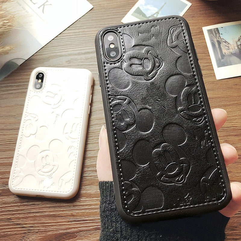 Cute Leather Mickey Cases for iPhone