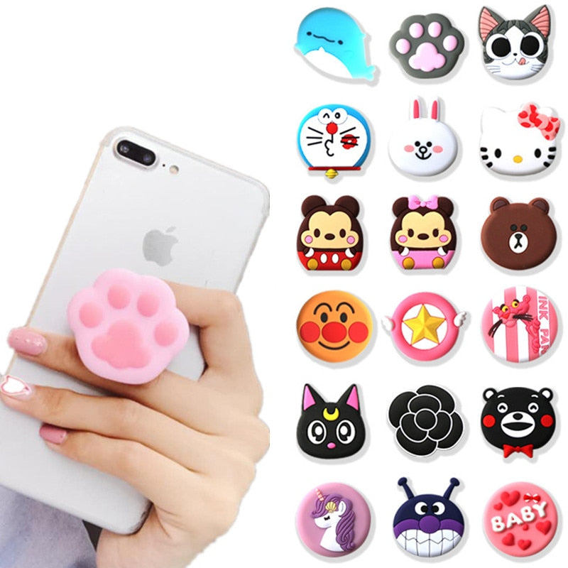NEW Universal Mobile Phone Cute 3D Animal Stand Finger Holder