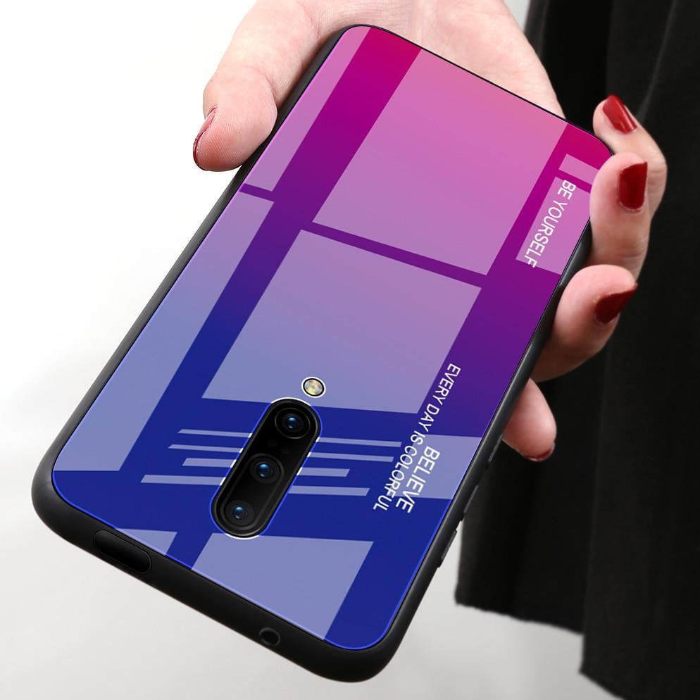Gradient Color Tempered Glass Case For Oneplus