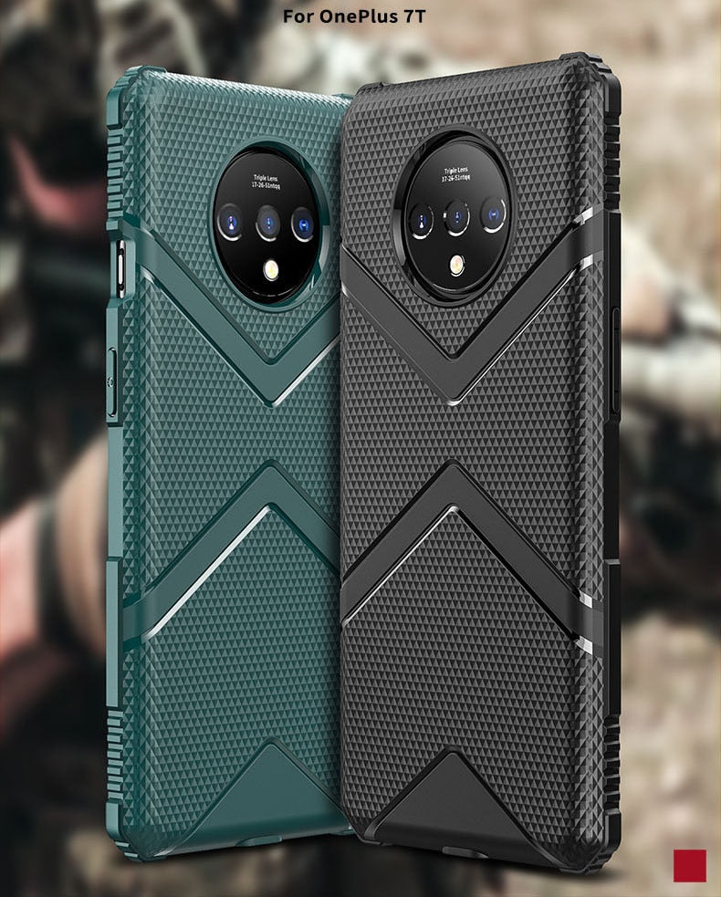 Military Shockproof Matte Soft Cover For Oneplus 7T/ 7T Pro