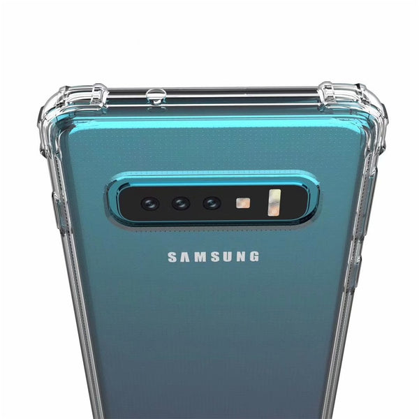 Rugged Crystal Clear Soft TPU Case for Samsung Galaxy S10 S10e S10+