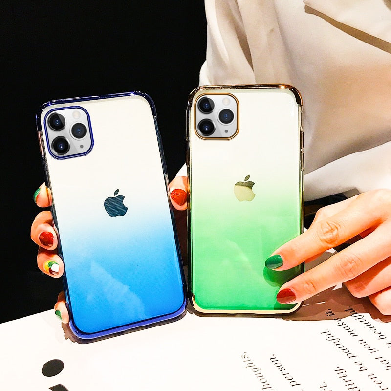 Gradient Plating Clear Case for iPhone 11/11 Pro/11 Pro Max