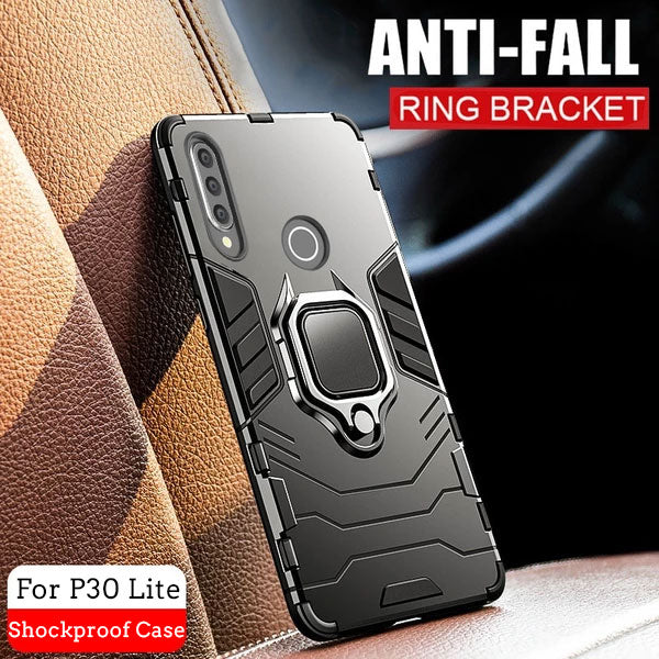 Armor Finger Ring Case For Huawei P30 Lite