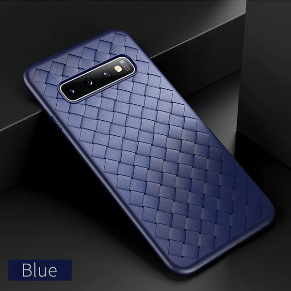 Luxury Grid Weaving Case For Samsung Galaxy Series