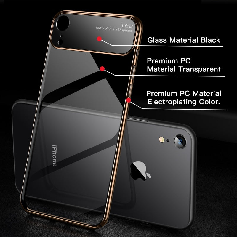 Luxury Lens Glass Case For iPhone X/XR/XS/XS MAX