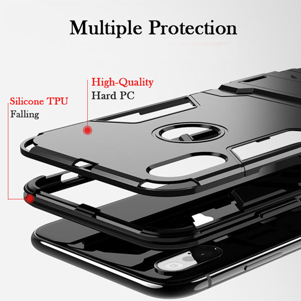 Luxury Shock Proof Holder Phone Case For iPhone