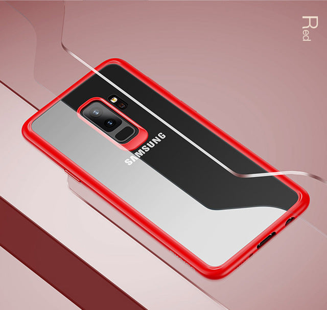 Transparent TPU+Acrylic Ultra thin Back Case for Samsung Galaxy S9/S9+