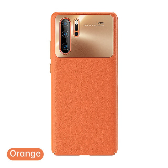 Leather Texture Protective Back Case For Huawei P30 Pro/P30