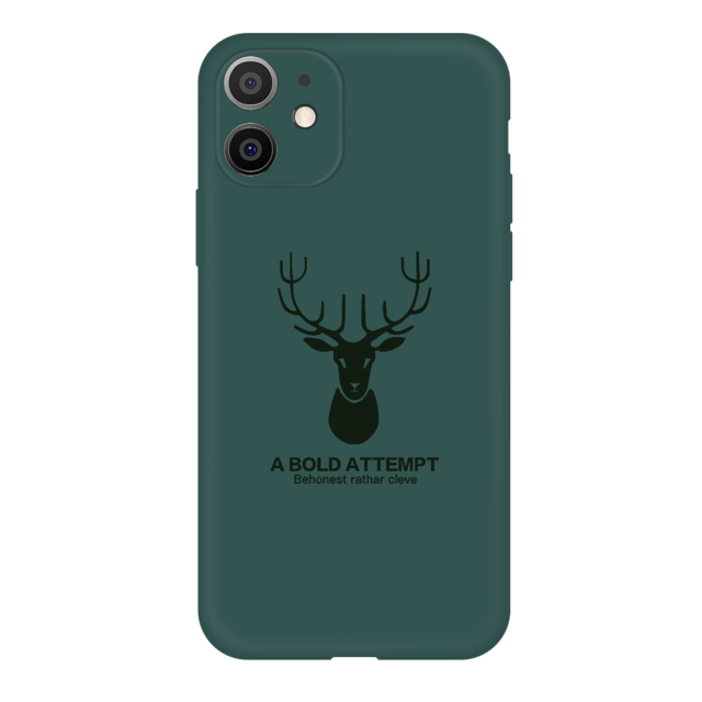 Liquid Silicone Deer Antlers Phone Case for iPhone 11 Series