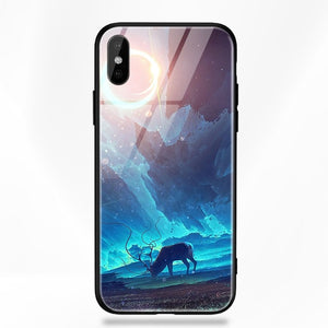 Stars Space Tempered Glass Back Case For iPhone X/XR/XS/XS MAX