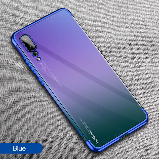 Plating Ultra Thin Soft Touch Transparent Case for Huawei P20/Pro/Lite