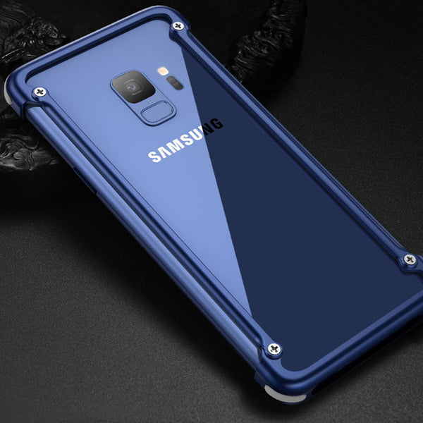 new arrival 40f9e c373f Luxury Airbag Metal Case For Samsung Galaxy S9 / S9 Plus