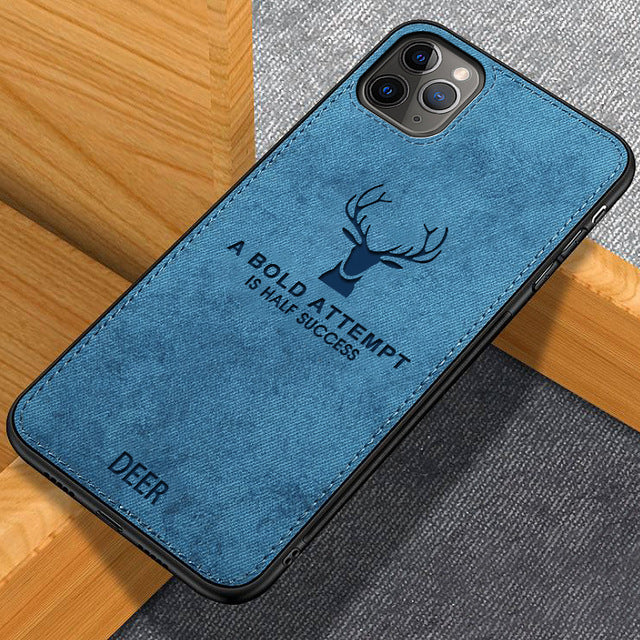 Classic Fabric Silicone Case For iPhone 11/11 Pro/11 Pro Max