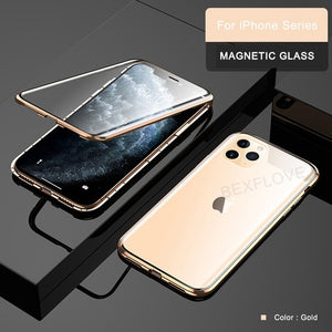 2019 Magnetic Full Tempered Glass Case For iPhone 11/11 Pro/11 Pro Max