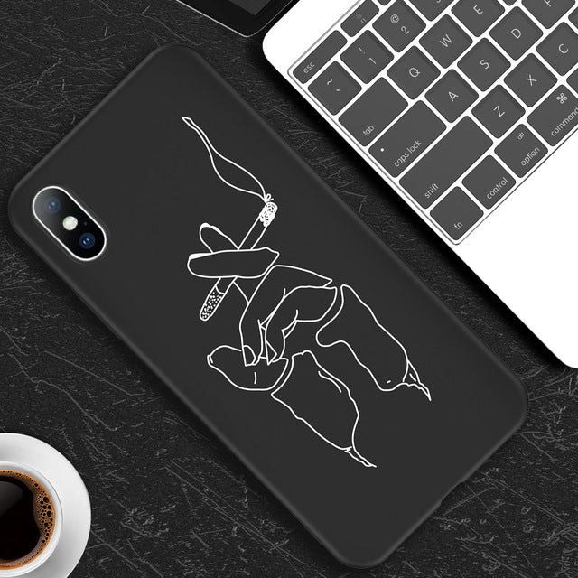 Abstract Art Soft TPU Case For iPhone