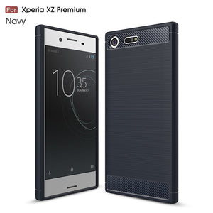 Carbon Fiber TPU Case For Sony Xperia XZ Premium