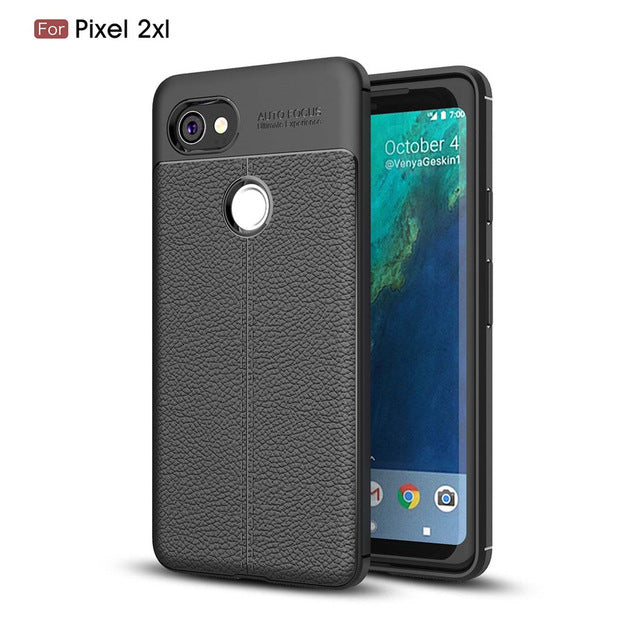 Luxury Leather TPU Silicone Back Case For Google Pixel 2 XL