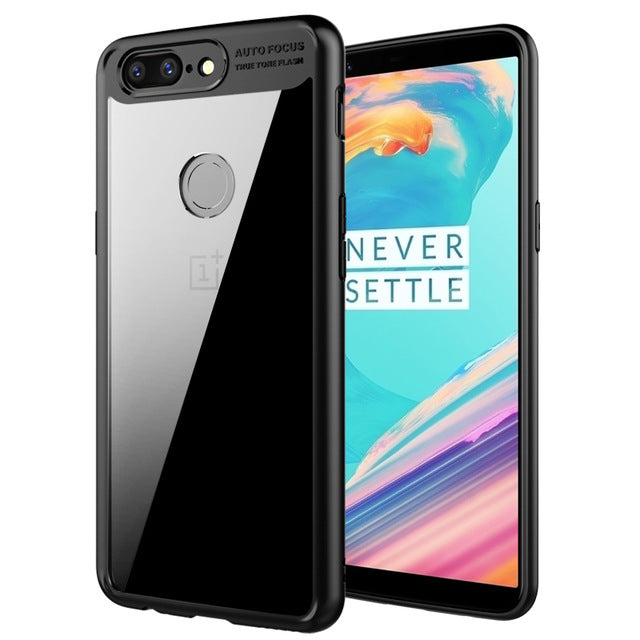 Transparent TPU Silicone Shockproof Cover for OnePlus 5T