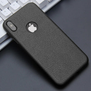 Ultra Thin Leather Skin Soft TPU Silicone Case For iPhones