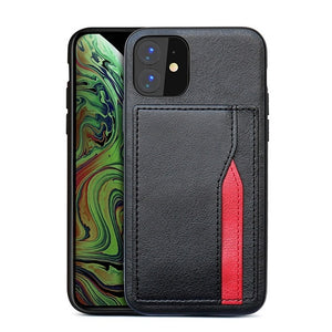 2019 Multi Card Leather Wallet Case For iPhone 11 Series