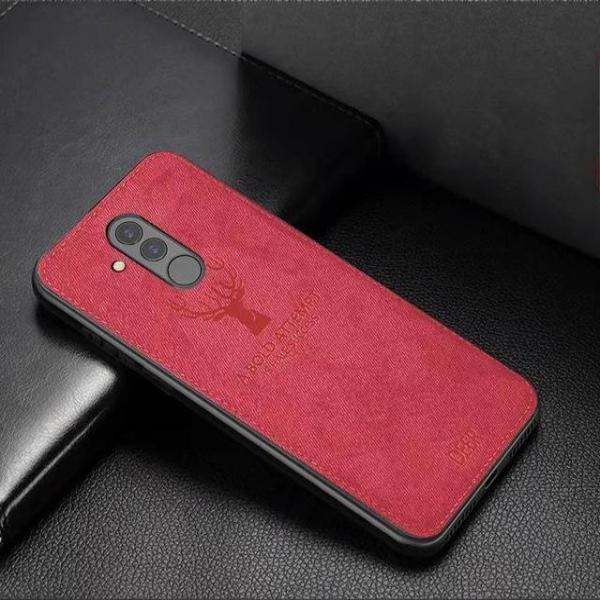 Classic Fabric Shockproof Back Case For Huawei Mate 20 Lite