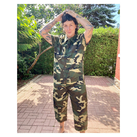 Shortsleeved Jumpsuit - Camo