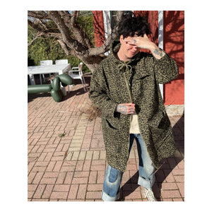 Hooded Jacket - Green Leopard