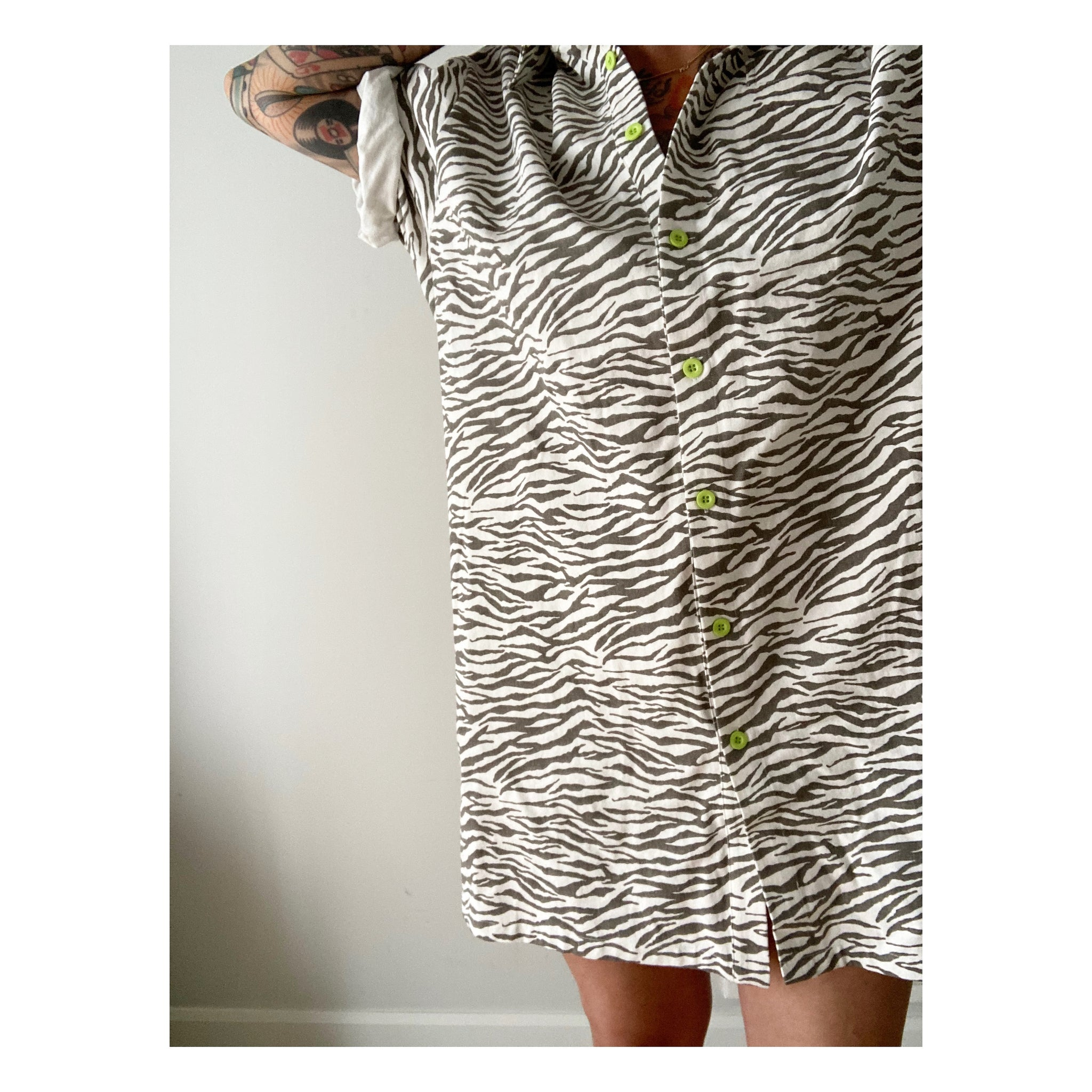 Zebra Shirt Dress