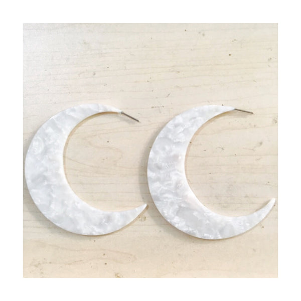 XXL Moon Hoop Earrings