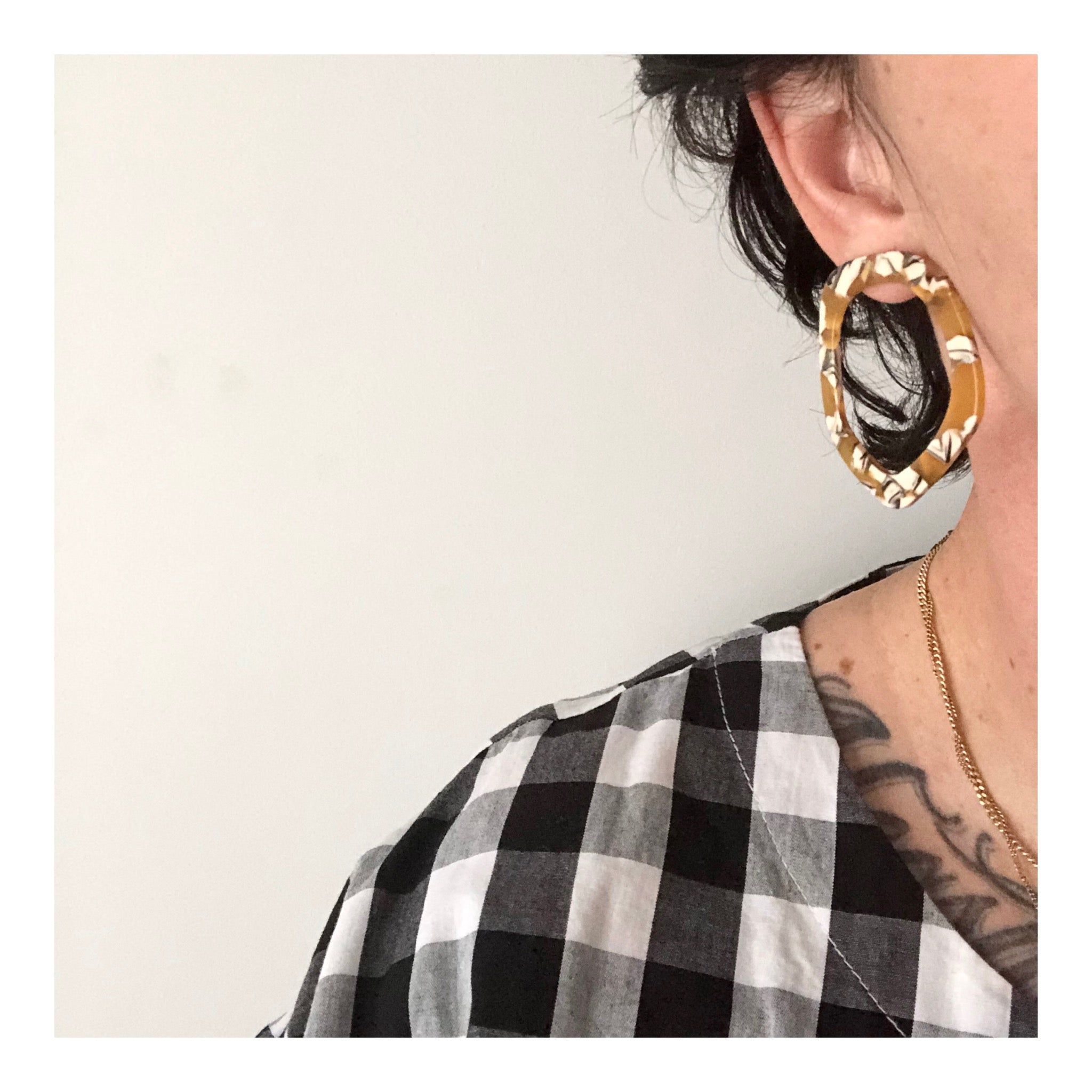 Wobbly Hoop Earrings