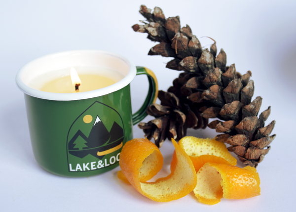 boreal forest essential oil all natural wax camping mug candle