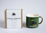 coastal morning seaweed and juniper camping mug candle