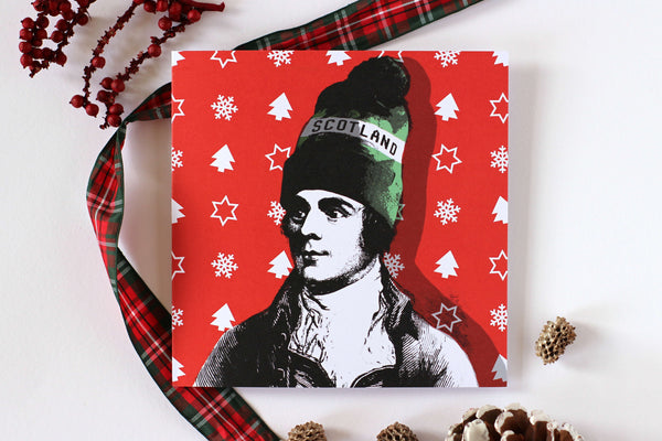 Rabbie Burns Christmas Card